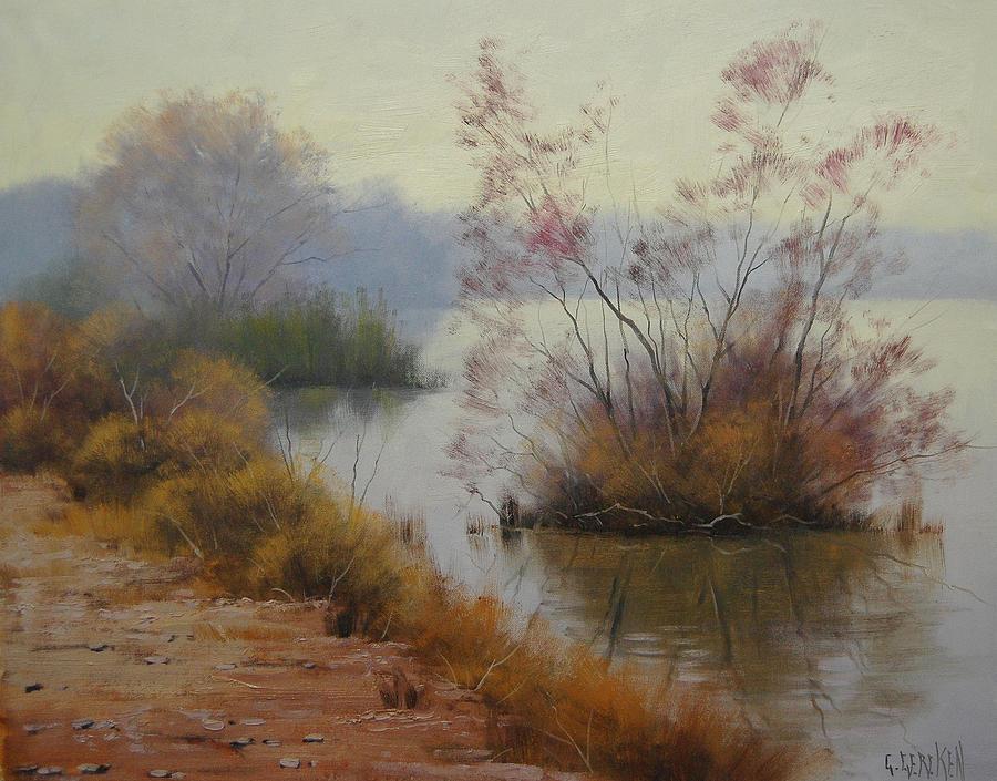 River Painting - Hawksbury River Painting by Graham Gercken