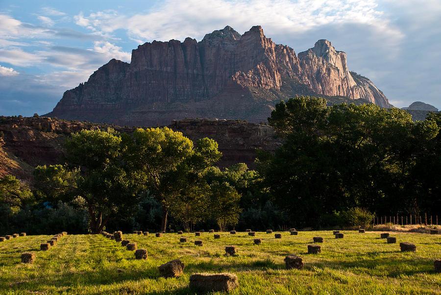 Hay Bales Rockville Utah Photograph