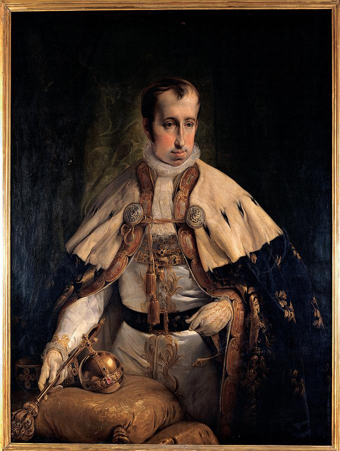 Hayez Francesco, Portrait Of Emperor Photograph