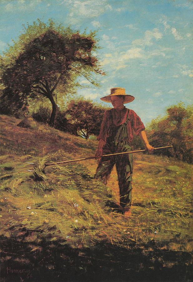 Winslow Homer Digital Art - Haymaking by Winslow Homer