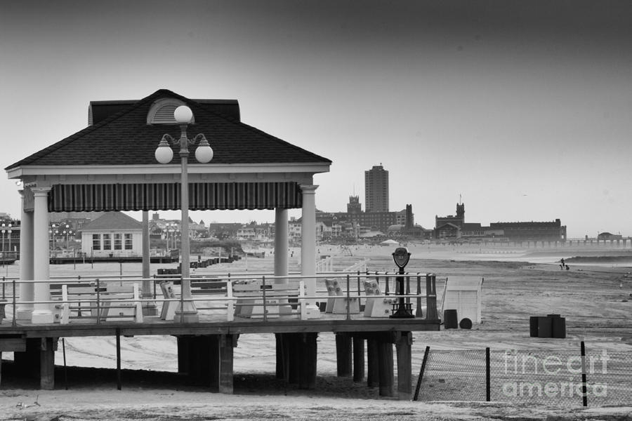 Hdr Beach Boardwalk Photos Pictures Art Sea Ocean Photograph Scenic Landscape Black White Photograph  - Hdr Beach Boardwalk Photos Pictures Art Sea Ocean Photograph Scenic Landscape Black White Fine Art Print