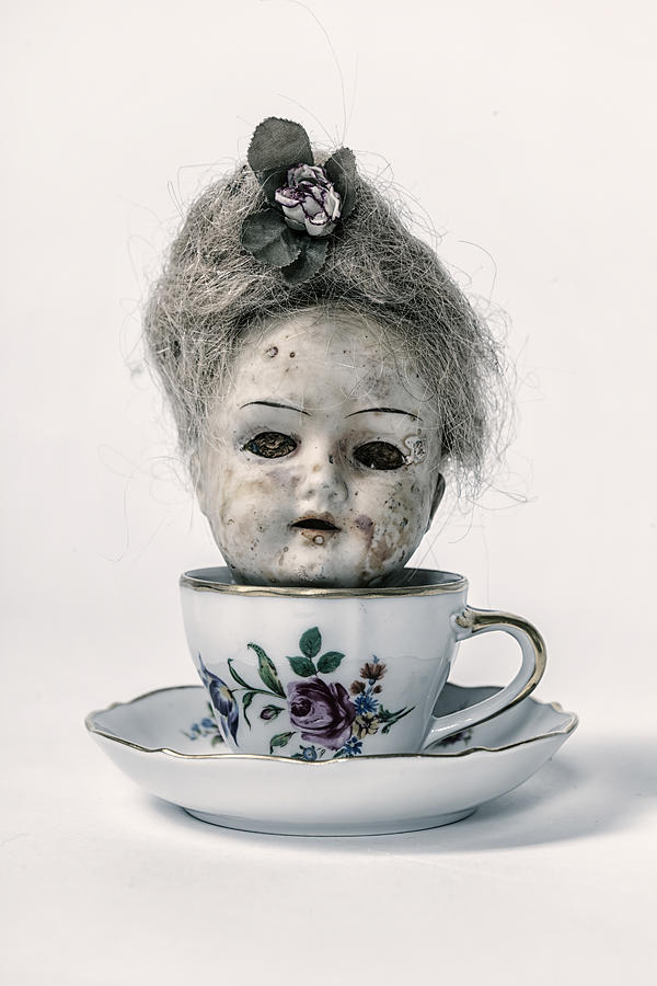 Head In Cup Photograph  - Head In Cup Fine Art Print