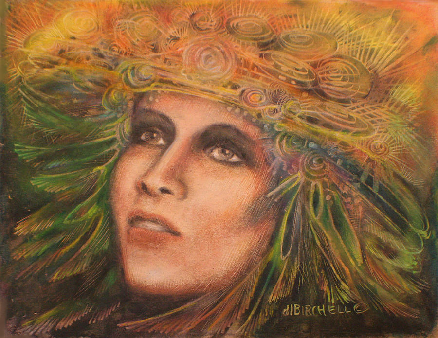 Headdress Painting  - Headdress Fine Art Print