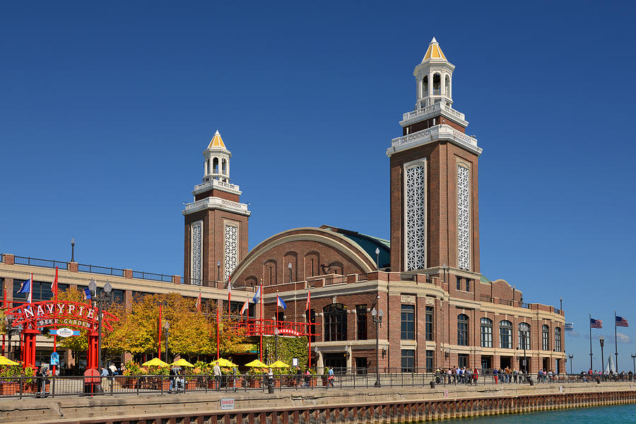 Headhouse Chicago Navy Pier Photograph  - Headhouse Chicago Navy Pier Fine Art Print