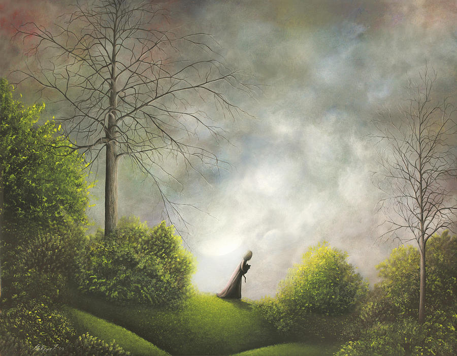 Heading Home. Fantasy Landscape Fairytale Art By Philippe Fernandez Painting  - Heading Home. Fantasy Landscape Fairytale Art By Philippe Fernandez Fine Art Print