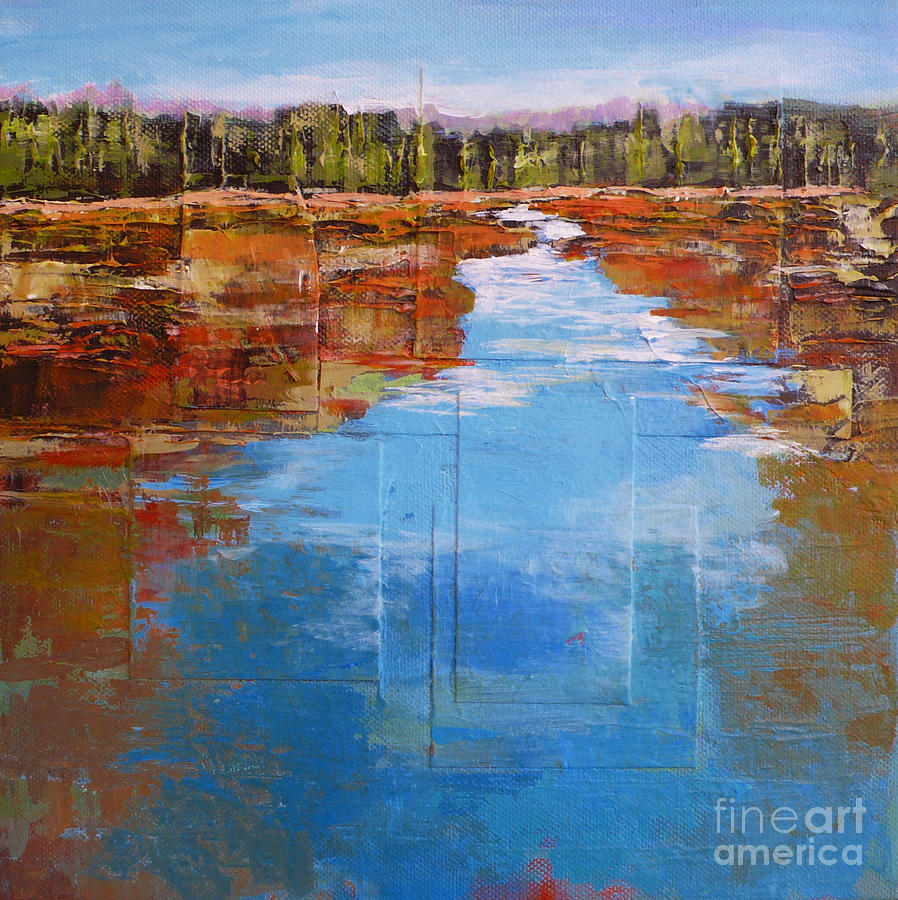 Landscape Painting - Heading West No. 5 by Melody Cleary