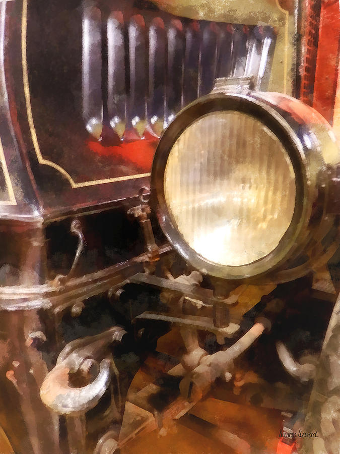 Headlight From 1917 Truck Photograph  - Headlight From 1917 Truck Fine Art Print