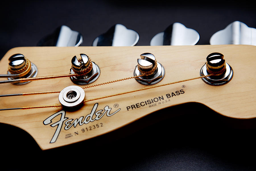 Bass Guitar Photograph - Headstock II by Peter Tellone