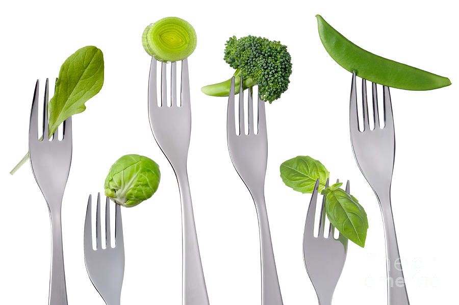 Healthy Green Food On White is a photograph by Lee Avison which was ...