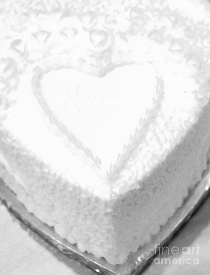 Heart Photograph - Heart Cake by Kathleen Struckle