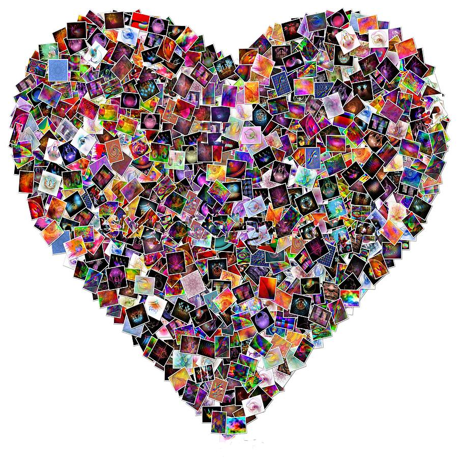 Wall Art Heart Collage : Heart collage car interior design