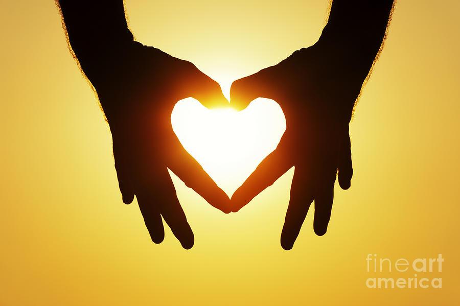 Heart Hands Photograph