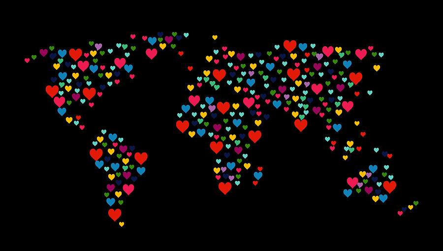 Heart Map  Photograph