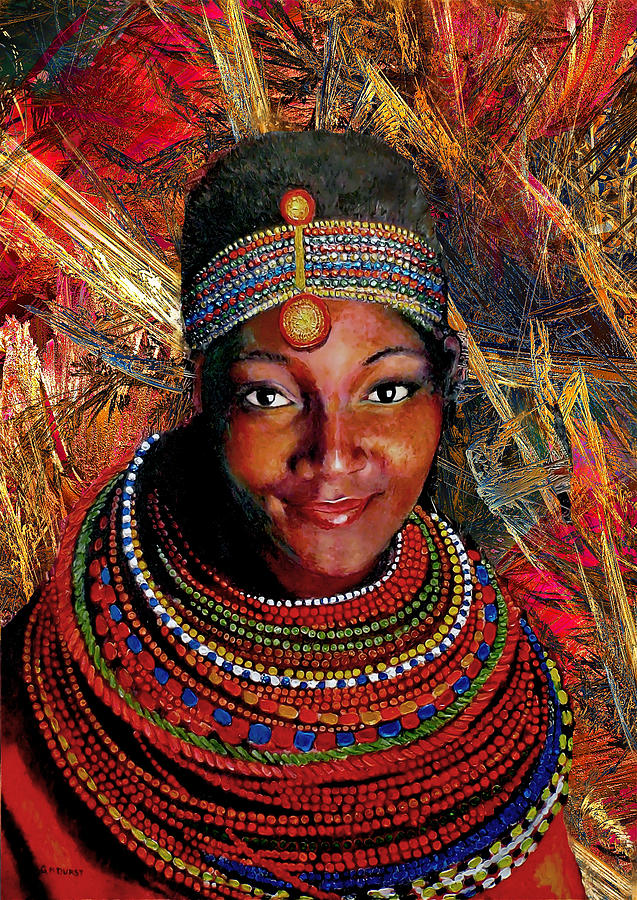 Heart Of Africa Mixed Media  - Heart Of Africa Fine Art Print