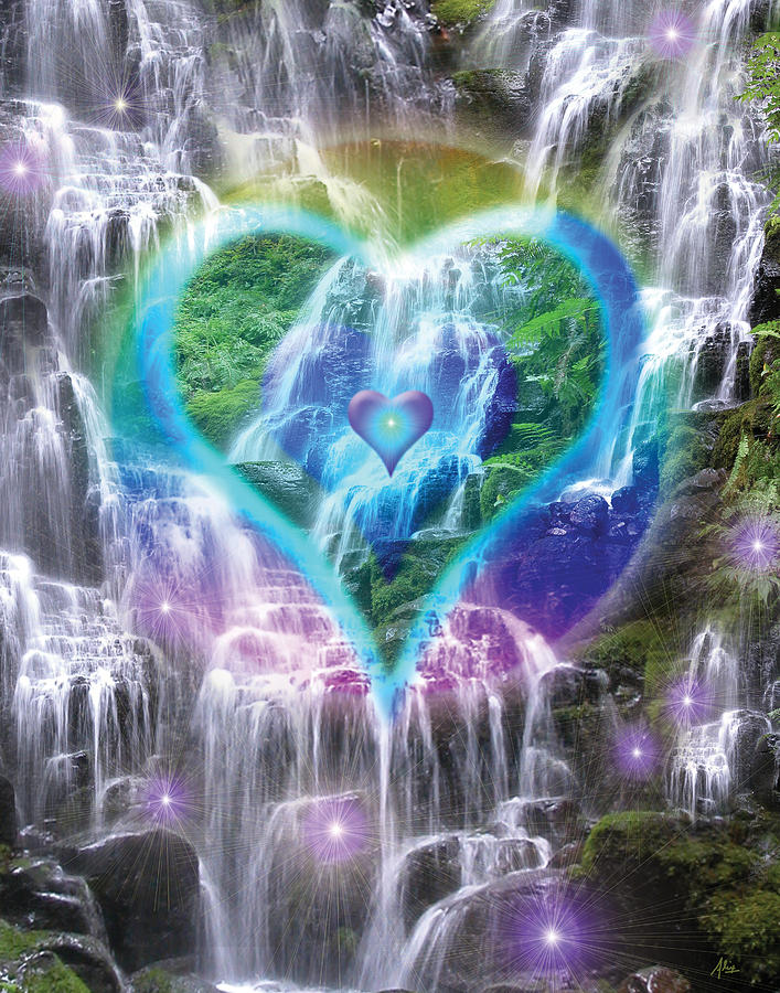 Heart Of Waterfalls Photograph