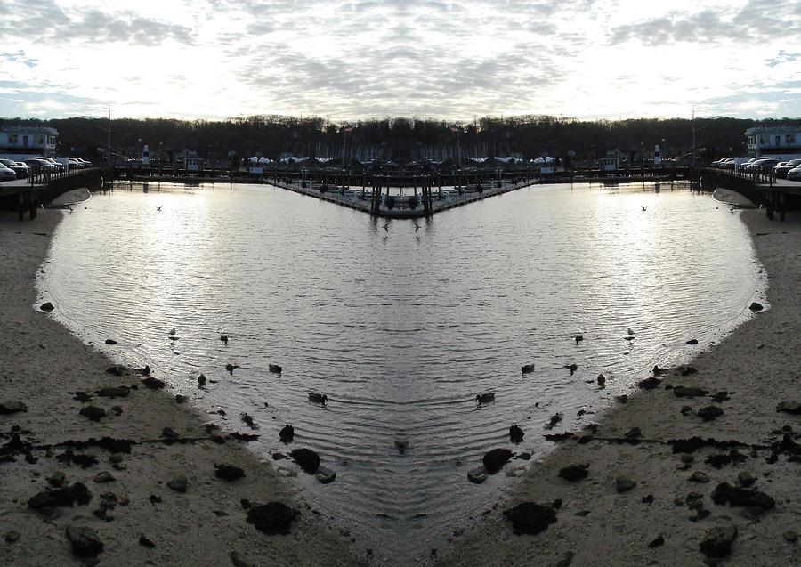 Heart  Shape In The Harbor Digital Art