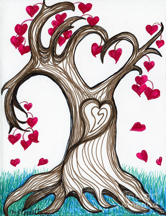 Heartful Tree 4 You Drawing
