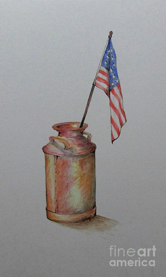 Milkcan Painting - Heartland America by Catherine Howley