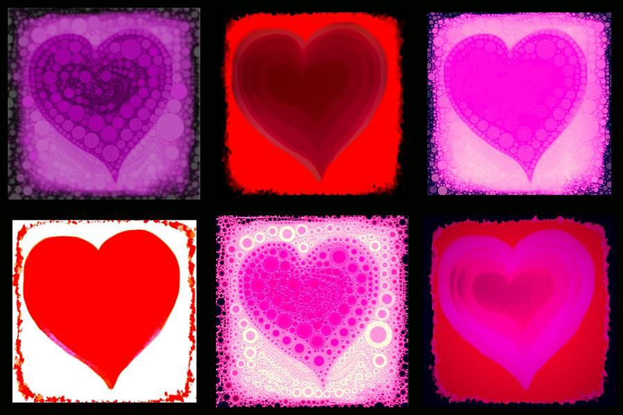Hear Digital Art - Hearts by Cindy Edwards
