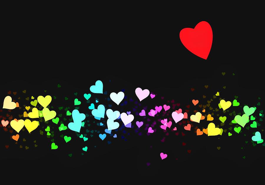 Hearts Trail Digital Art