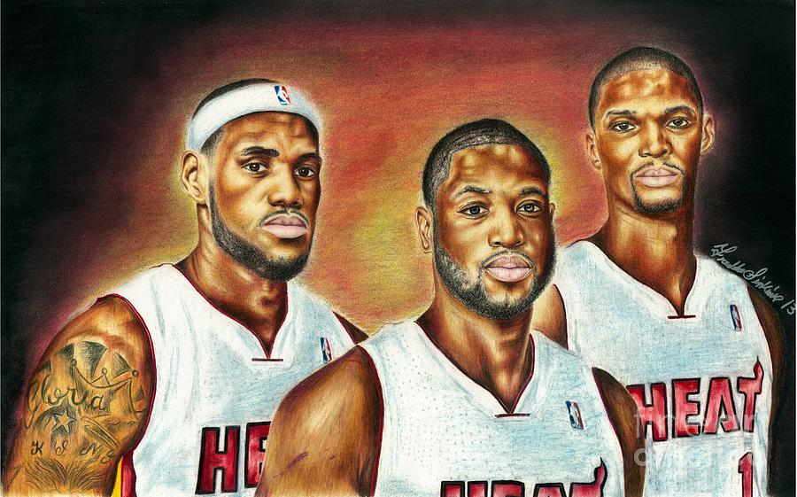 Heat Trio Painting  - Heat Trio Fine Art Print