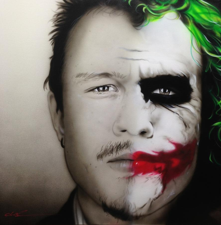 heath / Joker Painting  - heath / Joker Fine Art Print