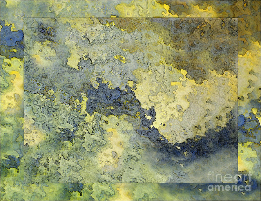 Abstract Digital Art - Heavenly Clouds Abstract by Debbie Portwood