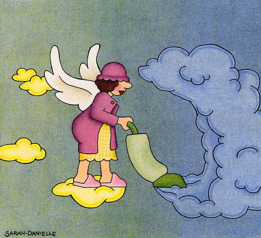 Heavenly Housekeeper Drawing  - Heavenly Housekeeper Fine Art Print
