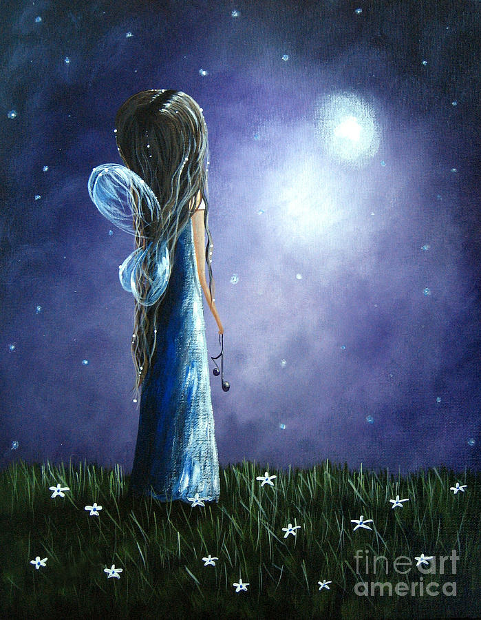 Heavens Little Helper By Shawna Erback Painting  - Heavens Little Helper By Shawna Erback Fine Art Print