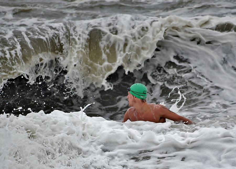 Lifeguard Photograph - Heavy Surf - Lifeguard Competition by Kim Bemis