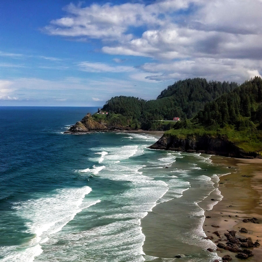 Lighthouse Photograph - Heceta Head by Darren  White