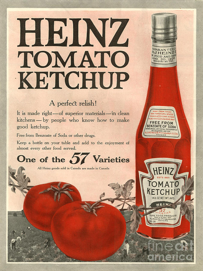 Heinz 1910s Usa Drawing
