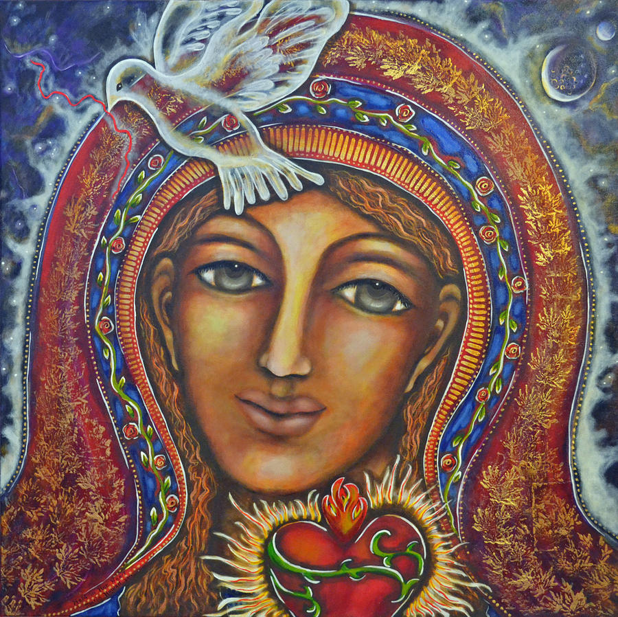 Visionary Artist Painting - Held In Her Heart by Marie Howell Gallery