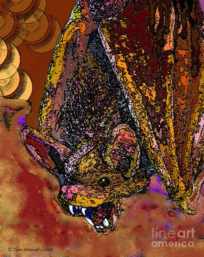 Hell Bat -2013 Digital Art  - Hell Bat -2013 Fine Art Print