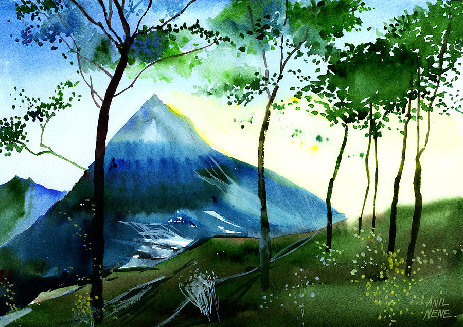 Nature Painting - Hello by Anil Nene
