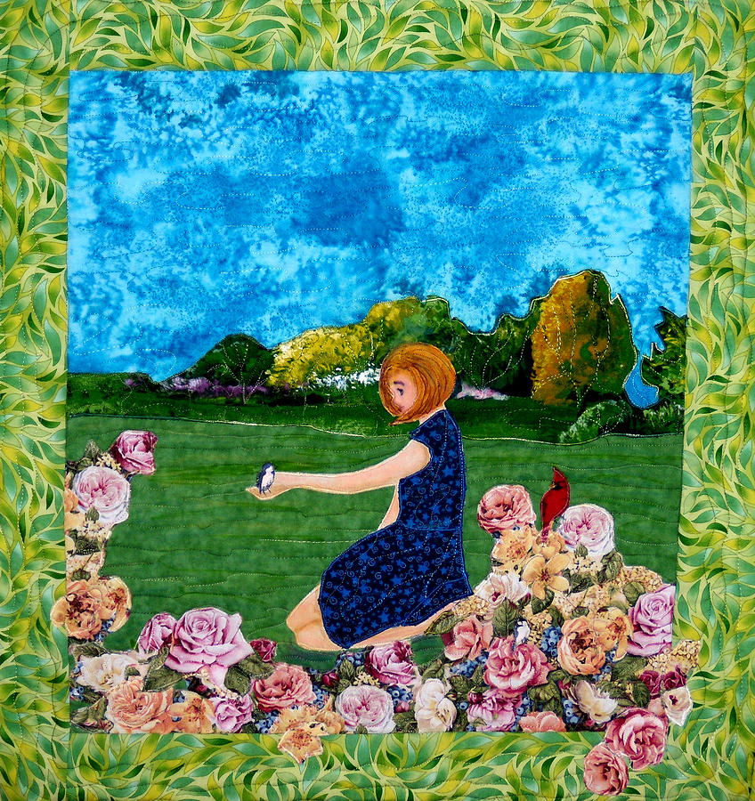 Sunny Day Tapestry - Textile - Hello by Maureen Wartski