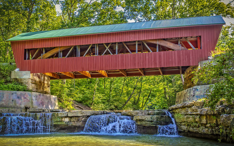 Helmick Mill Or Island Run Covered Bridge Photograph