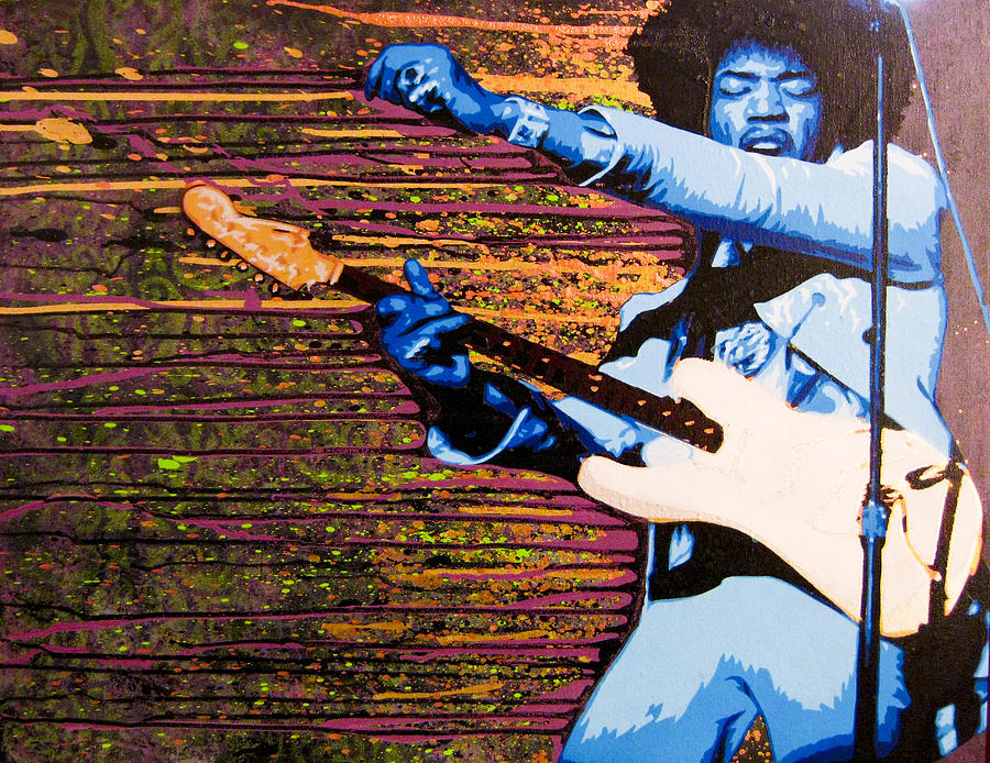 Hendrix 2 - The Experienced Returns Painting  - Hendrix 2 - The Experienced Returns Fine Art Print