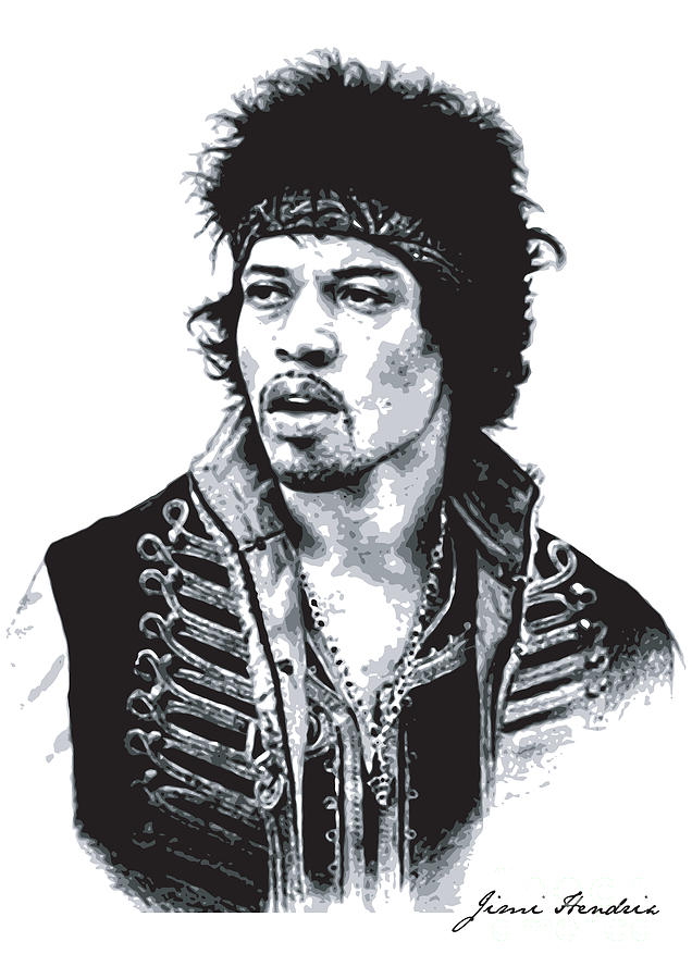 Hendrix No.02 Digital Art  - Hendrix No.02 Fine Art Print