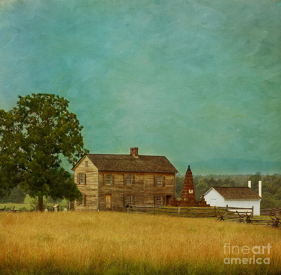 Henry House At Manassas Battlefield Park Photograph  - Henry House At Manassas Battlefield Park Fine Art Print