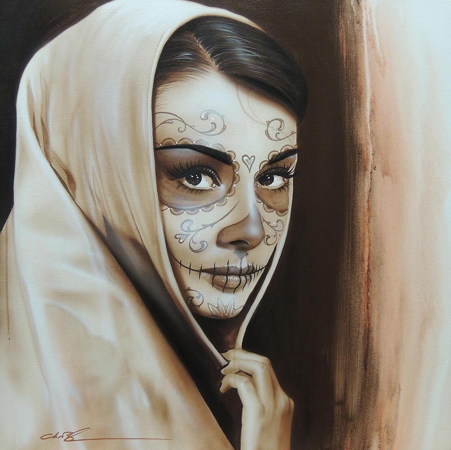 hepburn De Los Muertos Painting