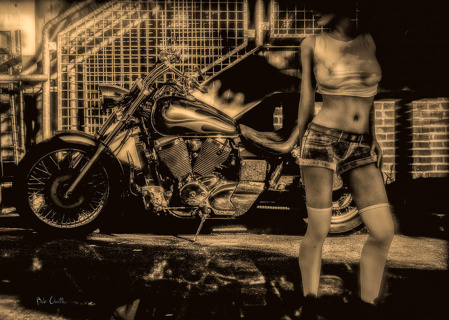 Her Bike Photograph  - Her Bike Fine Art Print