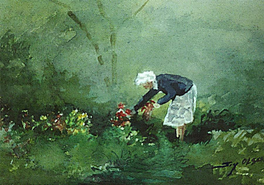 Her Flowers Painting