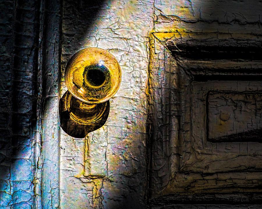 Her Glass Doorknob Photograph