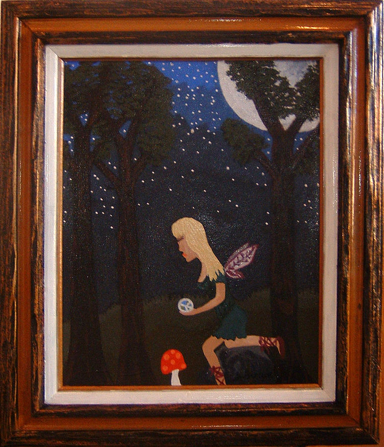 Her Night Light  Painting