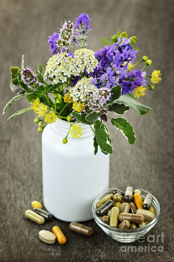 Herbs Photograph - Herbal Medicine And Plants by Elena Elisseeva