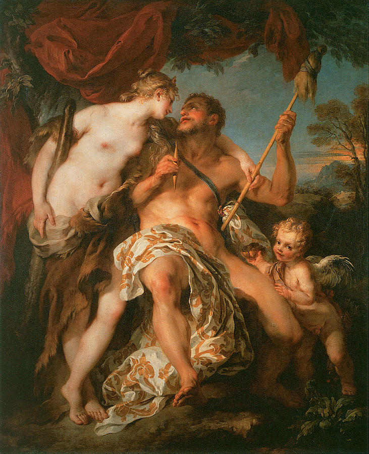 Hercules And Omphale Painting  - Hercules And Omphale Fine Art Print