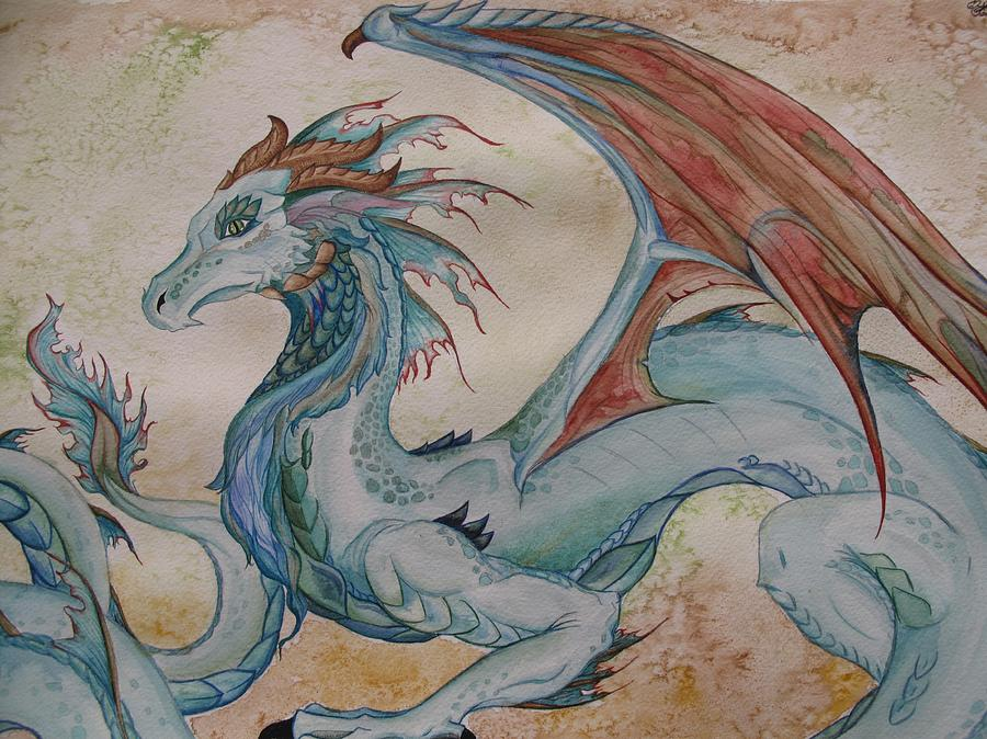 Here Be A Dragon Painting