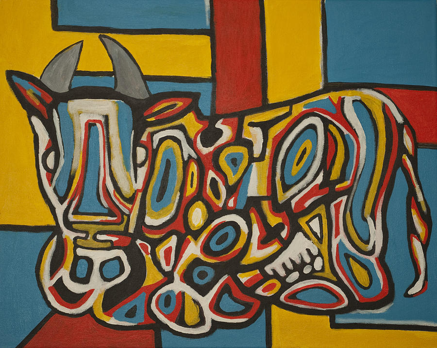 Harings Cow Painting