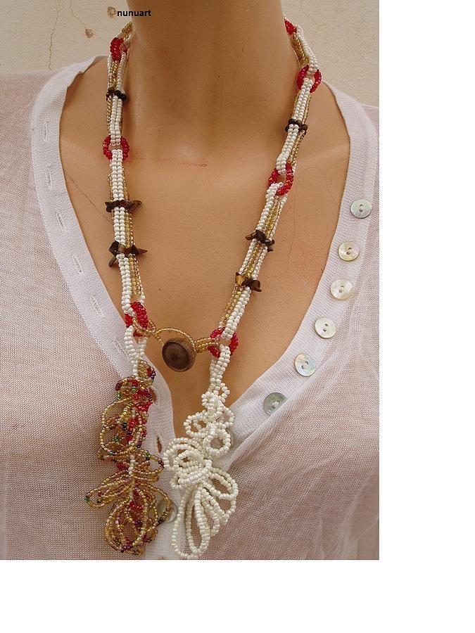 Herringbone Spiral Necklace With Tigereye Stones Jewelry